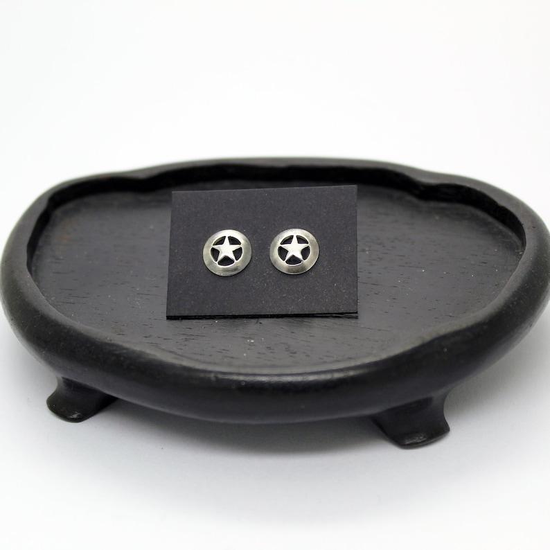 Texas Ranger Star Earrings in Silver 925 image 0