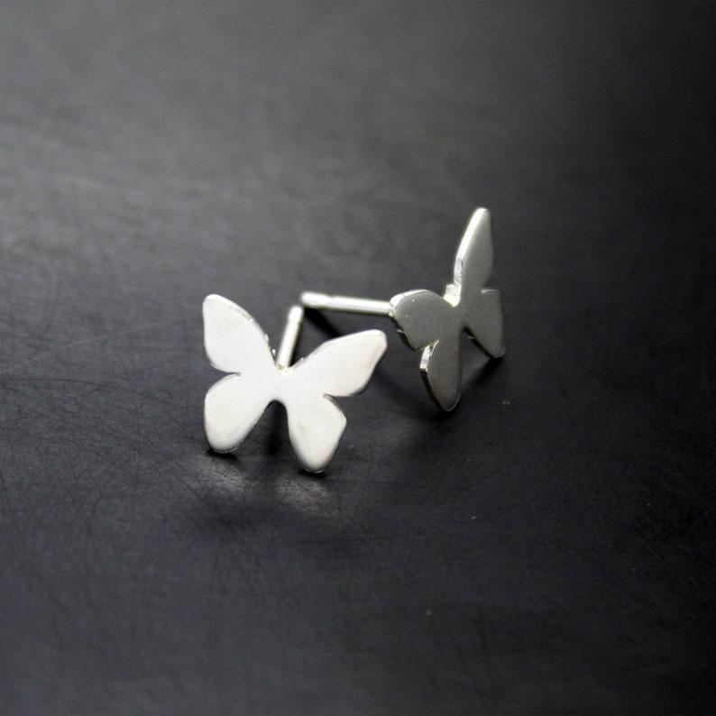 925 Silver Butterfly Earrings image 0