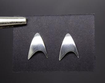 Starfleet Delta Starfleet Starfleet Insignia Silver Earrings 925