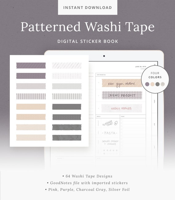 1X Practical Daily Weekly Schedule Plan Washi Tape Time Line Roll Sticker Note