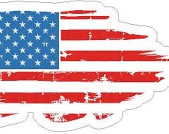 MAGNET Isreal Wavy Waving Flag Decal MAGNETIC Sticker RH V