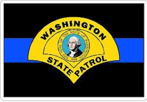 Thin Blue Line New York State Police Decal Sticker Trooper Sheriff Deputy
