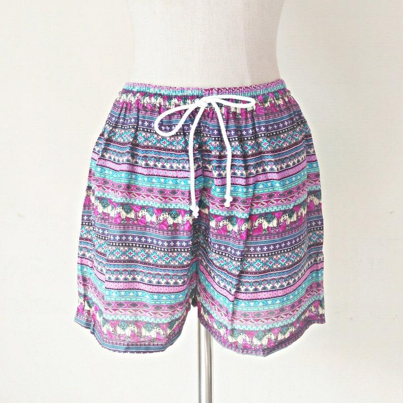 66dec3dc0 Bohemian Shorts Women elephant shorts elephant pants