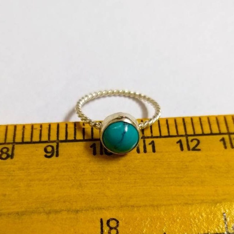 December Birthstone Ring Size 3-16 US Turquoise Ring 92.5/% Sterling Silver Ring Gemstone Ring Dainty Ring