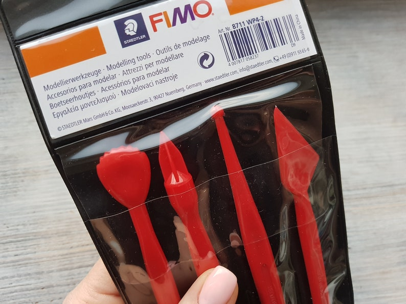 cutting and textured tools for Sculpey Set of 4 pieces Pardo Fimo Modelling tools Fimo Kato Metal clay Cernit Double-ended modelling