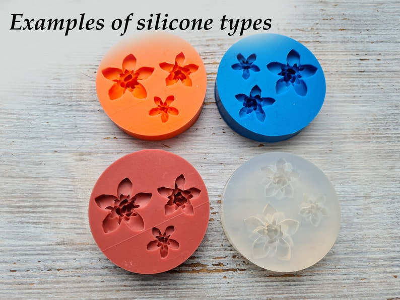 sugar craft shapes flexible mold for polymer clay jewelry decor double Sided mold Small mint leaf silicone veiner soap making