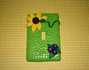 Sunflower II Light Switch Cover