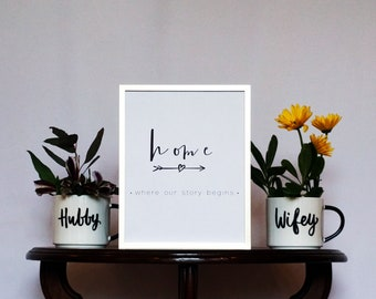 Home: Where Our Story Beings Printout