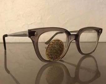 bf33f007b07 Vintage NOS Safety glasses   OSHA  classic buddy holly glasses  50s glasses   safety frames