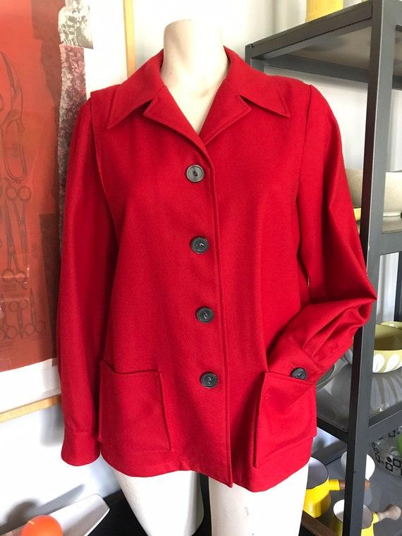 Vintage 1980s Ladies Pendleton Shirt-Jac//Classic