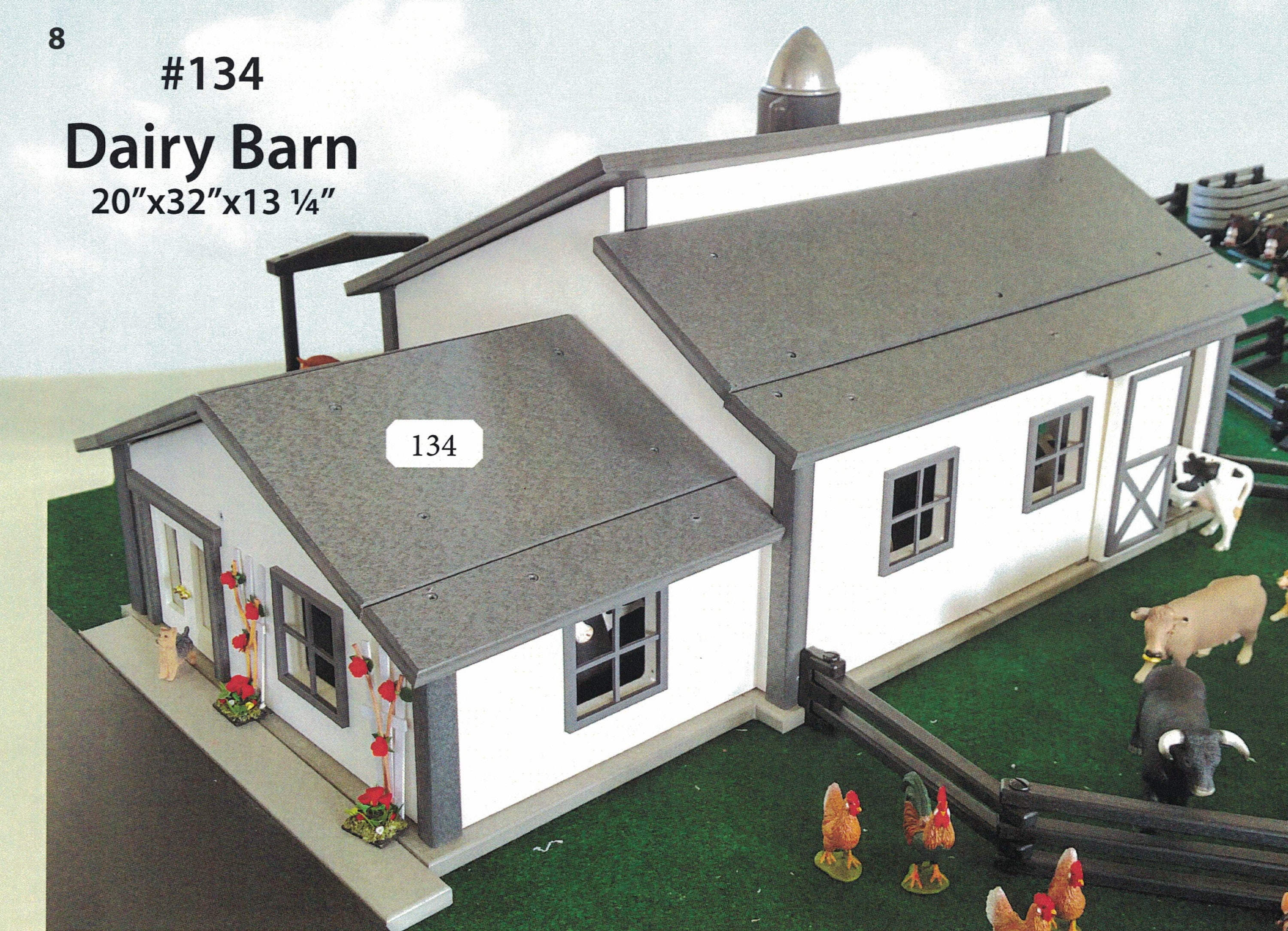 FREE SHIPPING on Milking/Dairy Barn INCLUDES: 2 cows and 2 ...