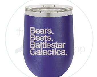 Bears. Beets. Battlestar Galactica., Jim Halpert, Dwight Schrute, The Office - Tumbler