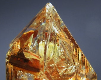 264d92089f8 Huge 317.65 Crt Skelatal Window Raw Natural Clear Quartz Crystal With  Laderite inclusions. Free Shipping!