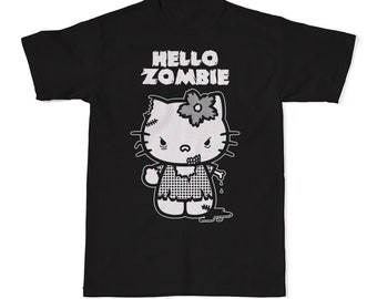 0707f4d0 Hello Zombie T-Shirt, Funny Hello Kitty Shirt, Funny Horror Shirts, Horror  Tees