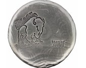 4 Troy Ounce .999 Fine Silver Hand Poured Standard Art Round Bison Bullion - Customization Options Available
