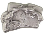 2 Troy Ounce .999 Fine Silver Hand Poured Gambler Art Bar Bison Bullion