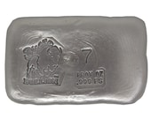 7 Troy Ounce .999 Fine Silver Hand Poured Standard Art Bar Bison Bullion - Customization Options Available