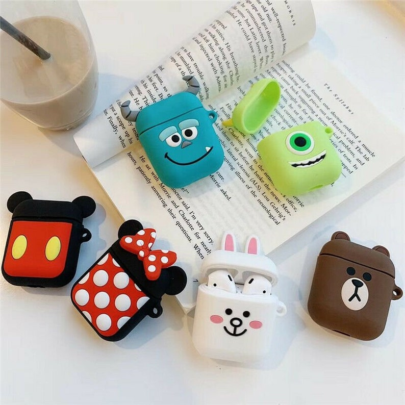 more photos 8fb63 17c35 Disney character airpods case With Clip| Airpods silicone case | 3d  character airpods