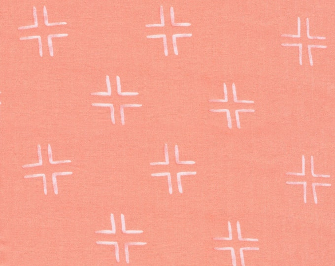 Brush Strokes Trellis Coral - Holly Degroot for Cloud9 Fabrics