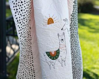 Llama Pacha Coral Kit - Art Gallery Fabrics