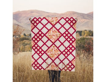Modern Chalet Quilt Pattern - PDF Digital Download - by Taren Studios