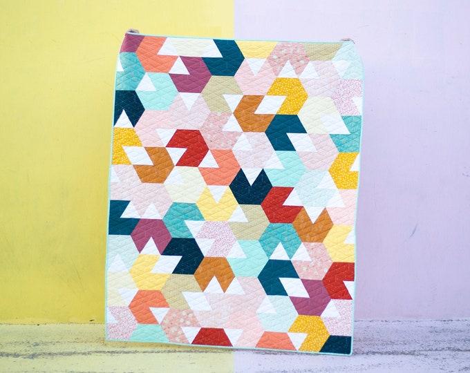 Hex Is Gone Quilt Pattern - PDF Digital pattern - by Taren Studios