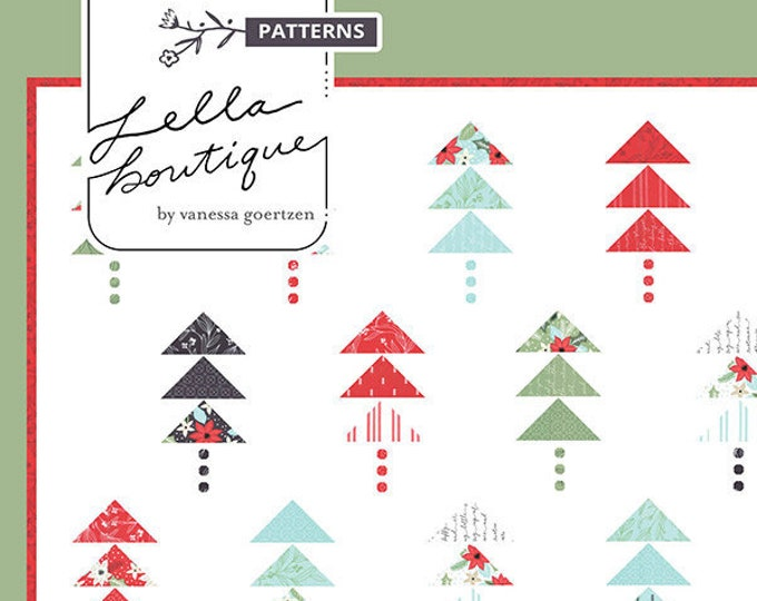 Forest Pattern Quilt Pattern by Lella Boutique