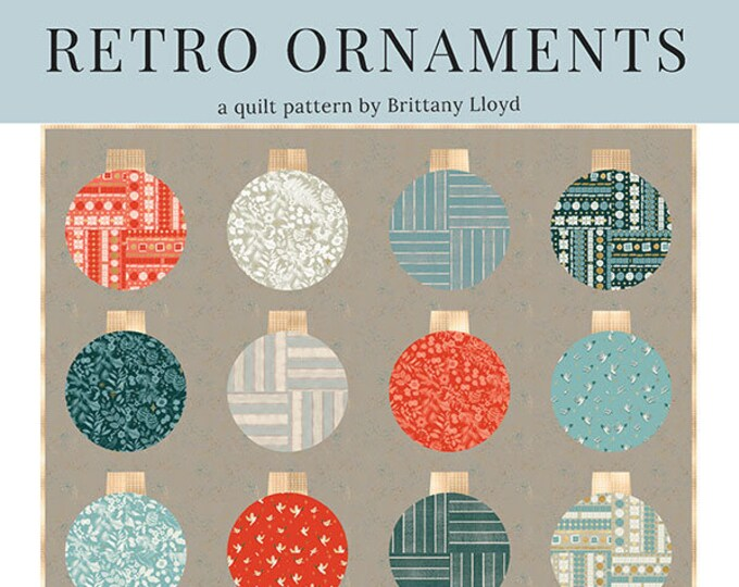Retro Ornaments by Lo & Behold Stitchery