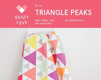 Triangle Peaks Quilt Pattern By Emily Dennis of Quilty Love