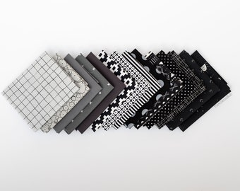 Inked - 14 piece Curated Fat Quarter Bundle