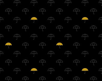 When Skies are Grey, Umbrellas Black by Simple Simon and Company for Riley Blake