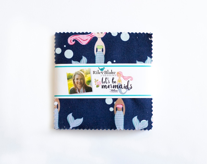 "Let's Be Mermaids 5"" Stacker, by Melissa Mortenson for Riley Blake Designs"