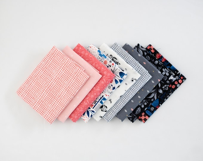 Eloises's Garden Pink and Blue - Curated Fat Quarter Bundle