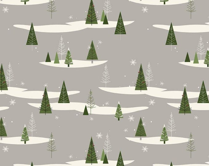 Winterberry Trees Gray by My Mind's Eye by Riley Blake Designs
