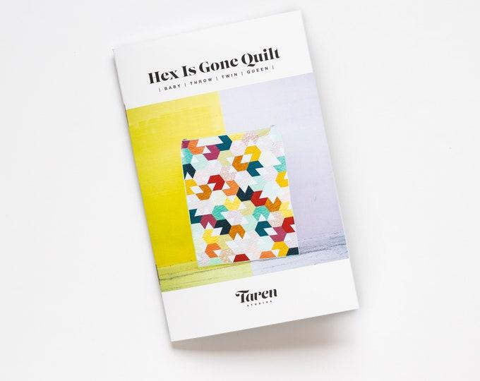 Hex Is Gone Quilt Pattern - paper pattern - by Taren Studios