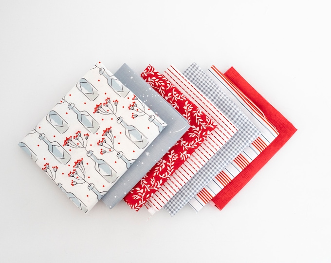Garnet and Gray Curated Fat Quarter Bundle