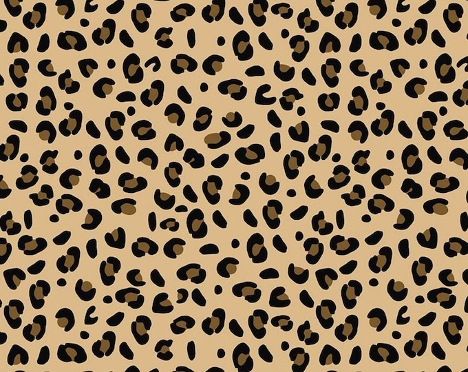 Leopard Tan from Spotted  by Kate Blocher for Riley Blake Designs