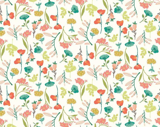 Midsummer Meadow Main Cream by Katherine Lenius for Riley Blake Designs