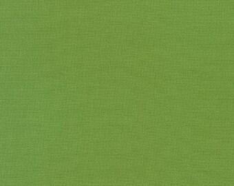 GRASS GREEN Kona Cotton for Robert Kaufman Fabrics