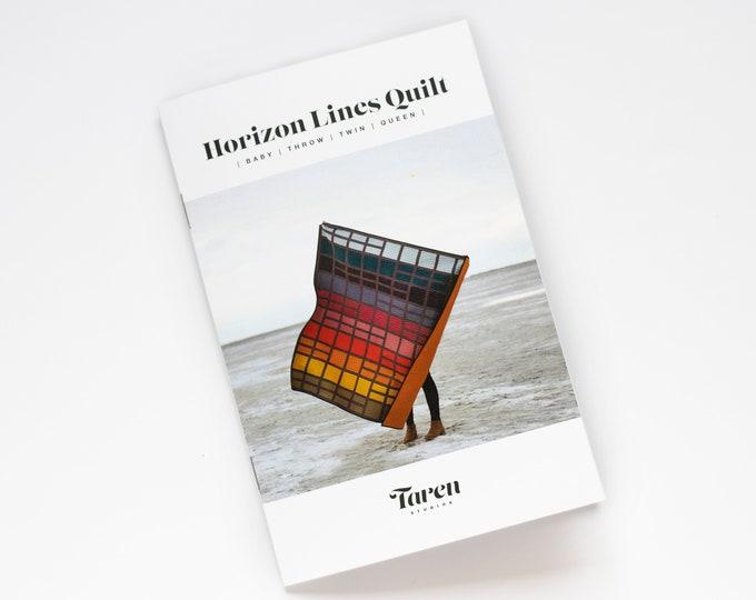 Horizon Lines Quilt Pattern - Paper pattern - by Taren Studios