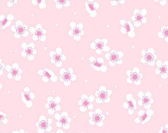 Sangria Blossoms -white on pink by Marison Ortega for Figo