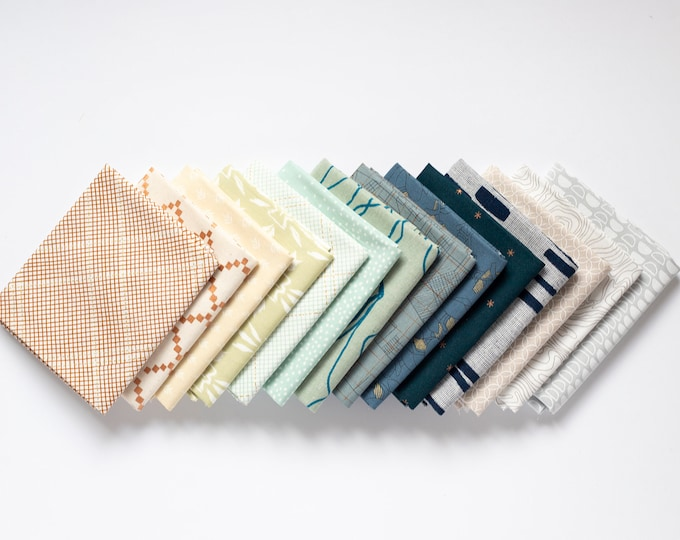 Shoreline - 14 piece Curated Fat Quarter Bundle