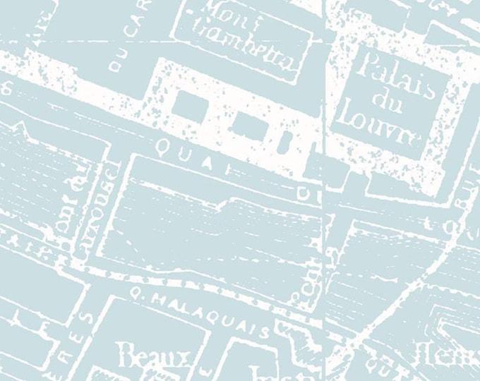City Map Blue Couturiere Parisienne byJ. Wecker Frisch for Riley Blake Designs