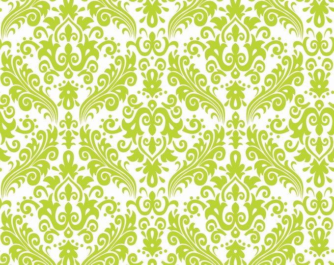 Lime Damask Basic for Riley Blake Designs