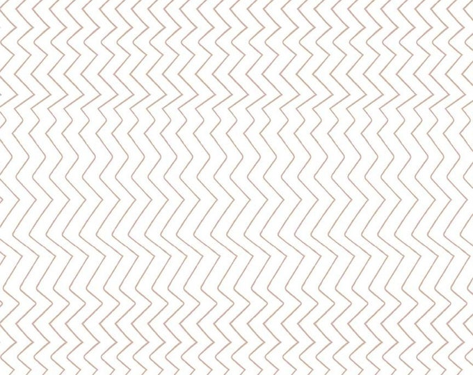 Zig Zag White Sparkle from Spotted  by Kate Blocher for Riley Blake Designs