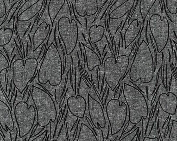 BLACK Linen/Cotton by Anna Graham from Driftless for Robert Kaufman Fabrics