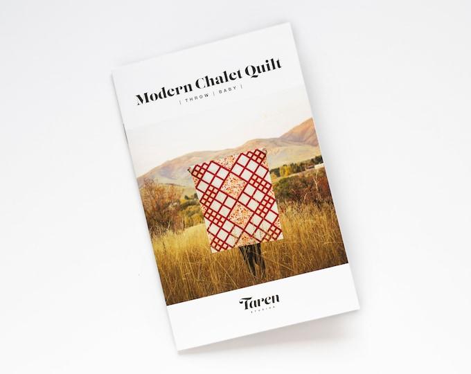 Modern Chalet Quilt Pattern - Paper pattern - by Taren Studios