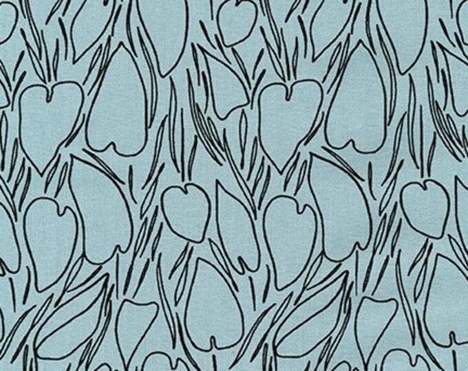 DUSTY BLUE Linen/Cotton by Anna Graham from Driftless for Robert Kaufman Fabrics