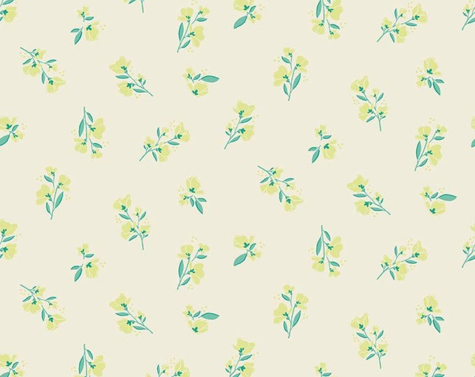 Midsummer Meadow Blossom Cream by Katherine Lenius for Riley Blake Designs