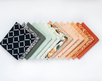 September Sunset -13 piece Bundle -  Curated Fat Quarter Bundle
